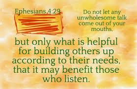 Ephesians 4.29